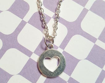 Heart necklace, Heart coin necklace, Pendant necklace, Heart, Hearts, Heart jewellery, Heart coins, Coin necklace, Gifts for her, Love