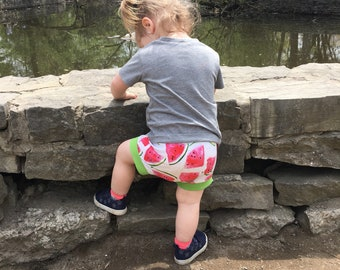 Watermelon shorties kids summer clothes, baby shorts, toddler shorts, trendy baby shorts, baby girl shorties, kids clothes, baby shorties