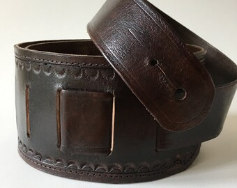 Handmade Leather Adjustable Guitar Strap - Acoustic