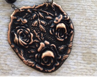 Vintage Rose Necklace, Vintage Style Necklace, Handmade Jewelry, Evening Wear,