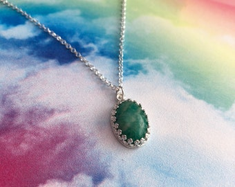 Amazonite and Sterling Silver Necklace, Gifts For Her, Amazonite Jewellery, Amazonite Necklace, Amazonite, Amazon Jade