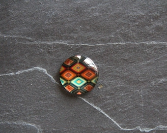 Cabochon style African multi-colored 25 mm