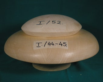 Wooden hat block, hat form, for millinery