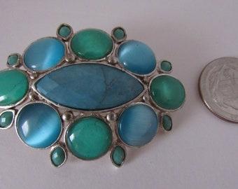 Liz Clairborne Vintage Oval Brooch
