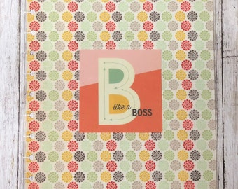 Be Like a Boss Retro Big Happy Planner Cover