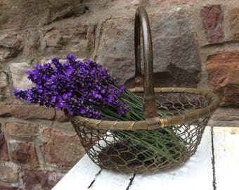 A lovely Vintage gilt metal French Basket