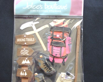 Jolee's Boutique-Hiking Trip-7 Dimensional Stickers-Brand New-Ek Success