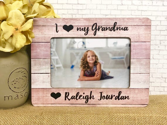 Grandma frame personalized frame gift for grandma i love my