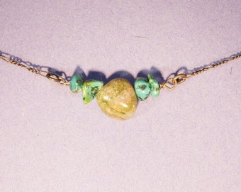 Unikite, Turquoise Necklace