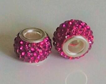 2 beads style pandora, European charms, 12 * 9 * 5 mm