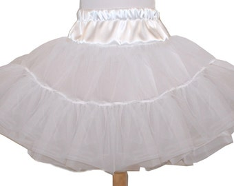 4 Layer Organdy and Satin Fluffy Petticoat, Square Dance Petticoat for Twirly Skirt Dresses Infant Baby Toddler Girls Can Can Petticoat