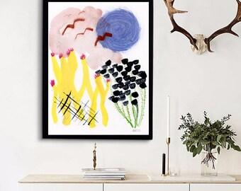 Moderne Kunst Druck. Abstrakte Wandkunst. Giclée-Malerei. Abstrakte Malerei. Wohnung-Dekor. Zeitgenössische Kunst. Großen Druck. Helle Wandkunst