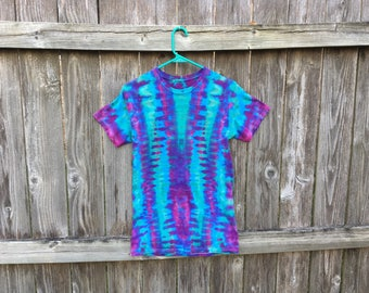 Adult small DNA tie dyed tshirt