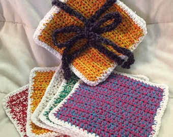Croched Cotton Wash Cloths