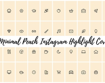 49 Minimal Peach Instagram Covers for Bloggers, Influencers, and Creatives
