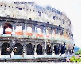 Rome Series:  Colosseum 1 *also available as a WATERCOLOR!*