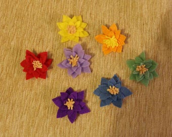 Handmade Felt Lotus Flower
