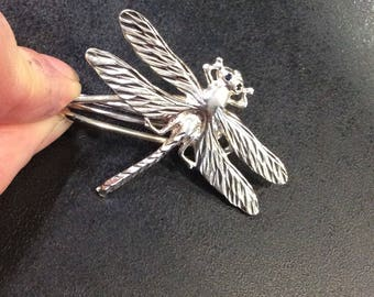 Silver dragonfly ,money or tie clip