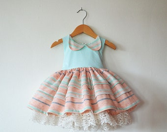 Liv's Mint and Pink Birthday Party Dress with Petticoat