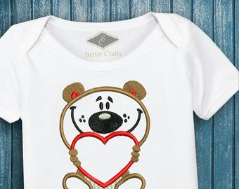 50% OFF Loving Bear   Machine Embroidery Applique Design 4 Sizes