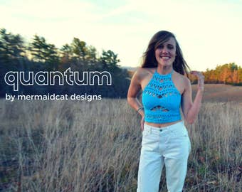 crochet crop top pattern -Quantum
