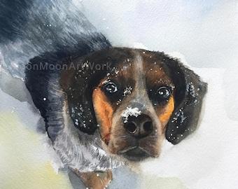mother's day gift, Custom pet Portrait, Custom Portrait, animal portrait, Pet painting, original watercolor painting, anniversary gift