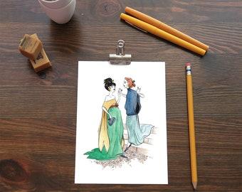 Original Watercolor Painting - Event Ladies PRINT