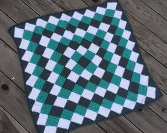 Simply Spiraled Crochet Square Or Rectangle Pdf Pattern Make