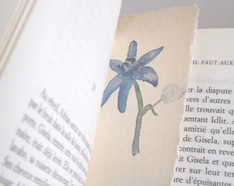 blue flower bookmark