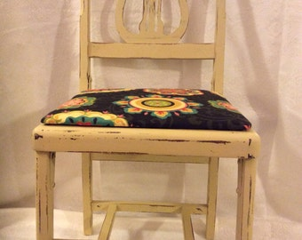 Rare Folding Belle Harp Chair in Yellow and Black