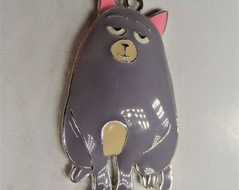 47mm, Grey Cat Pendant, Inspired by Secret Lives of Pets, P26