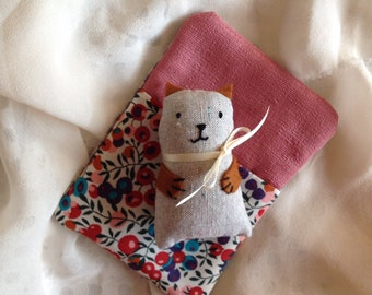 Pocket Pal, small soft toy in sleeping bag