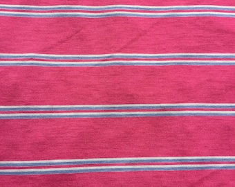 Pink,lavender,and white Stripe, Dress Fabric , By the yard