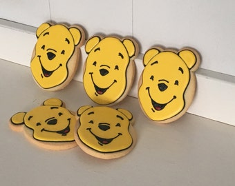 Winnie the Pooh Hand Decorated Sugar Cookies - 1 Dozen