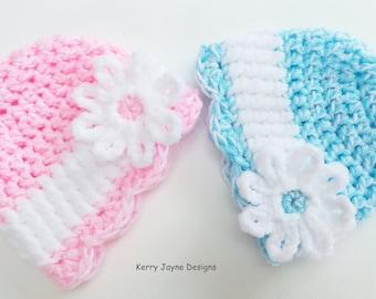 CROCHET PATTERN - Velvet Daisy Hat - 5 sizes Crochet Hat Pattern - Childrens Crochet Hat Pattern  Baby Hat Crochet Pattern Crochet Hat Pdf