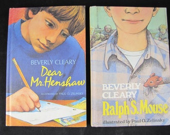 Dear Mr. Henshaw // 1983 Hback 1st Printing //Ralph S Mouse // Beverly Cleary - set of 2 books // ISBN 068802405X & 0688014526