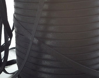 5yds Elastic Shiny Satin Black Baby Headbands 1/4 inch - 6mm  Elastic Underwear Elastic Bra Making Supplies Sateen Elastic