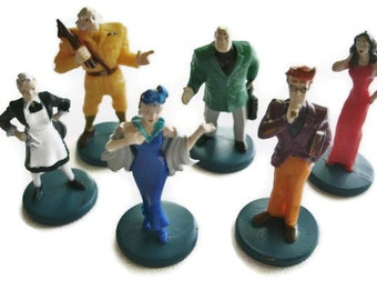 Clue Game Characters set of 6 playing pieces