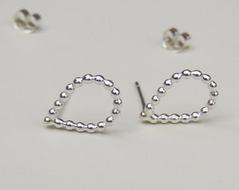 Teardrop Studs Sterling Silver Small Post Earrings Raindrop Earrings Silver Studs