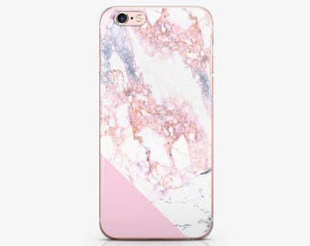 Pink Marble iPhone Case iPhone X Csae iPod Touch 6 Case iPhone 7 Plus Case iPhone 8 Plus Case Clear Case iPhone 7 Case iPhone 6s Case AC1227