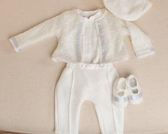 Owen Boys Wedding Outfit, Boys Ring Bearer Suit, Baby Boy Suit