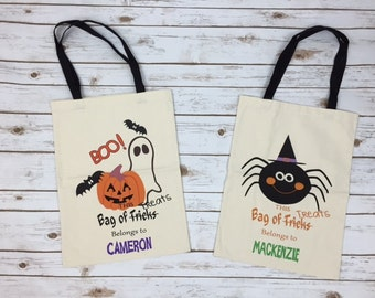 Personalized Halloween Bags for Kids - Personalized Trick or Treat Bags for Kids - Halloween Treat Bags Personalized - Halloween Tote