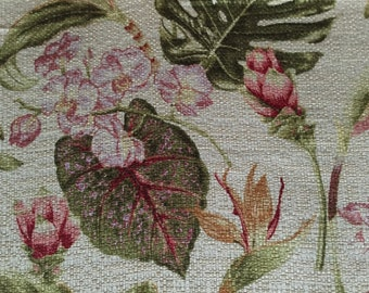 Botanical - Tropical - Woven Upholstery Fabric