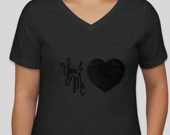 YOU AND ME Finger Print T-Shirt