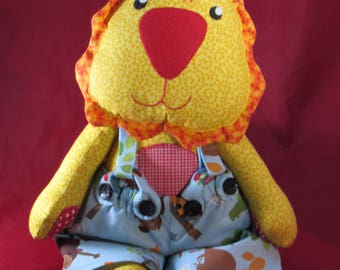 Rag doll lion, Stuffed animal, Leon Lion soft toy, Melly and Me toy, stuffed lion, soft toy lion, huggable stuffed lion,