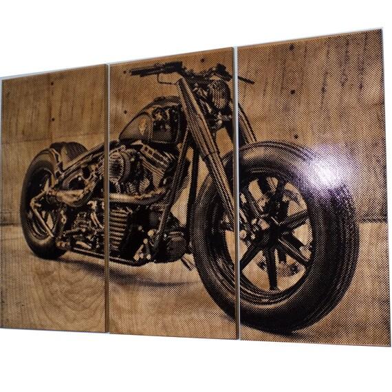 Good Harley Davidson Fatboy / Softail / Motorcycle / Bike Print