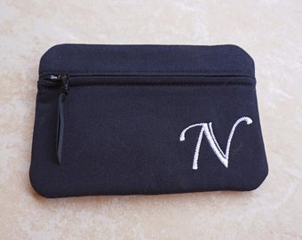 Monogrammed Makeup Bag, Personalized Clutch, Bridesmaid clutch, Monogrammed makeup bag, Make Up Bag, Cosmetic Bag, Personalized Bag
