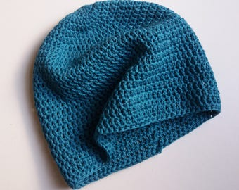 Made To Order - Pure Cotton Crochet Hat - Choice of Colour