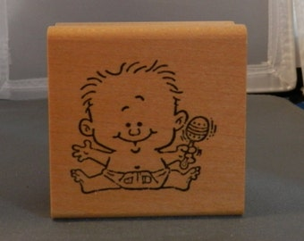 Baby rubber stamp