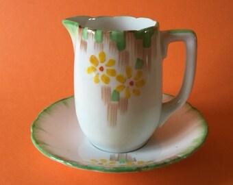 Vintage Melba small jug and saucer